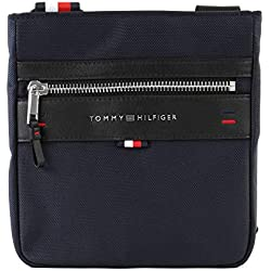 Tommy Hilfiger - Elevated Mini Crossover, Shoppers y bolsos de hombro Hombre, Azul (Tommy Navy), 2.5x22x21 cm