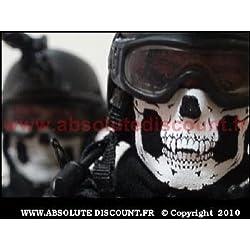 PURECITY® Tour de Cou Doublure Polaire Tete de Mort - Foulard Echarpe Cagoule Masque Protection - Froid Vent Poussiere Accessoire Moto Ski Surf