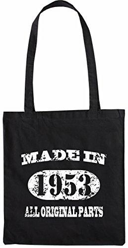Mister Merchandise Tasche Made in 1953 All Original Parts 62 63 Stofftasche , Farbe: Schwarz Schwarz