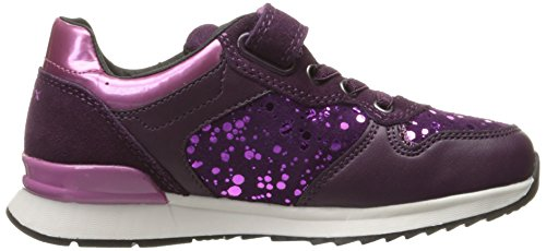 Geox J Maisie E, Baskets Basses Fille Violett (PRUNE/VIOLETC8276)