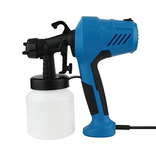 Tellaboull for Elektrisches Spray HVLP-Farbspritzgerät für das Malen mit Einstellbarer Flusskontrolle und 1,5 m Kabelanstrichzäune Decking, Wände