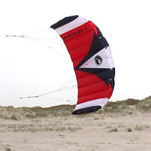 Wolkenstürmer Paraflex Sport 1.7 Kite, rot/weiß - Lenkmatte mit reißfesten Leinen