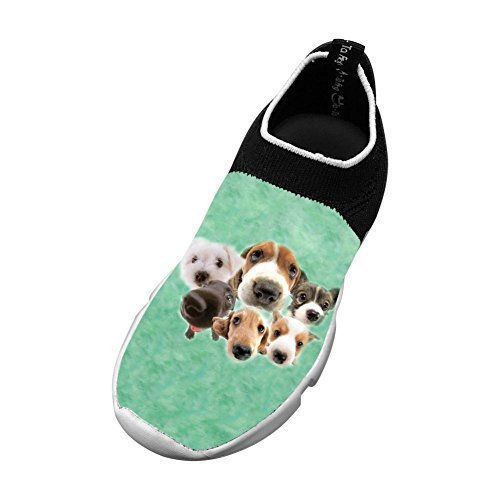 A Lovely Puppy New Cute Flywire Knitting 3D Printing Gym Shoes For Unisex Children