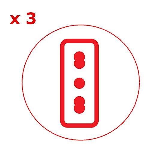 Poly Pool PP2352.1 Adattatore Salvaspazio Triplo Spina 16A Grande 3 Prese Bivalenti Fuori ASSE, Nero