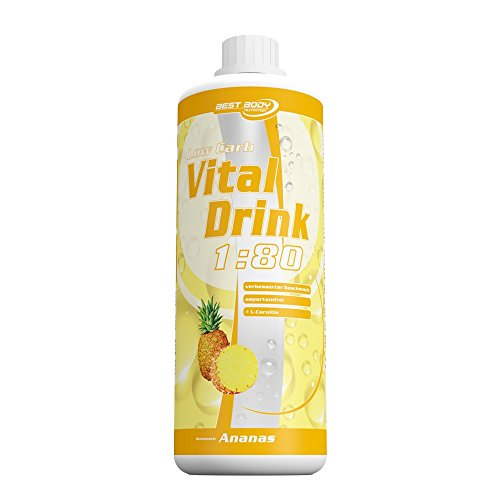 Best Body Nutrition Low Carb Vital Drink 1 Liter Flasche, Ananas