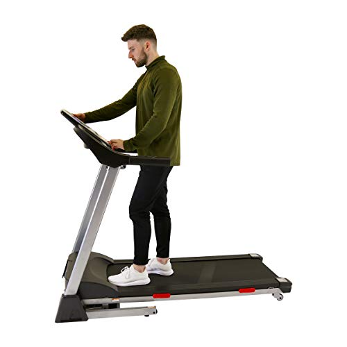 Charles Bentley 2.25Hp Motorised Electric Treadmill Folding Running Machine with Safety Lock Folding Arm