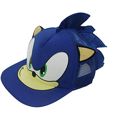 Anime Jungen Kostüm - Sonikku Hut Cosplay Anime Game Cap Baseballmütze Erinaceinae Junge Kopf Tragen Halloween Kostüm Kleidung Zubehör für Erwachsene