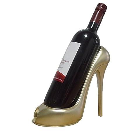 upxiang weinständer moderne, vin suspendu de mémoire, Rope Wine Bottle Holder de support crémaillère, Paragraphe de chaussures de bouteilles vin Étagère Fête de mariage Support de vin verzierungs Corde de cadeau décoratif support pour bouteille de vin, or, 8.66x3.94x7.48inch / 22x10x19cm