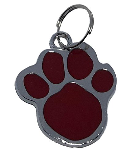 Dog Lovers Paw Shaped Collar Black Silver Pendant For Pets Dogs Color...