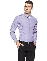 Peter England Men's Checkered Slim Fit Formal Shirt