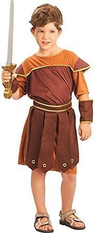 Garçons Enfants Historique Soldat Romain Warrior costume déguisement - Marron, 12-14 ans
