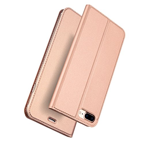 Stand-up-fall Iphone (Für IPHONE 8 Plus Fall iPhone 7 Plus Fall, DUX Ducis Haut Pro Series Ultra Slim Layered Dandy, Ständer, Magnetverschluss, TPU Bumper, Full Body Schutz für iPhone 8 Plus Fall iPhone 7 Plus Fall, rose gold, 14 cm)
