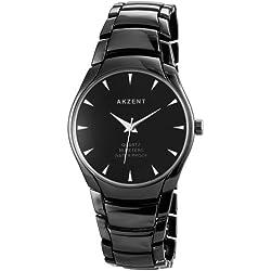 Akzent Herren-Armbanduhr XL Analog Quarz verschiedene Materialien SS7471100039
