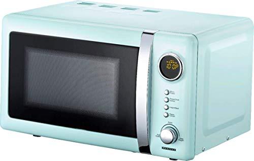 Melissa 16330110 microondas de diseño Retro azul-metálico