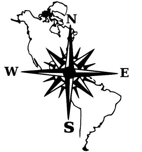 generisch Kompass Aufkleber Polarstern Windrose Aufkleber Verschiedene Größen, Auto Caravan Wohnmobil Wandtattoo, Silhouette Aufkleber (39/2) (dunkelgrau matt, 40x30cm)