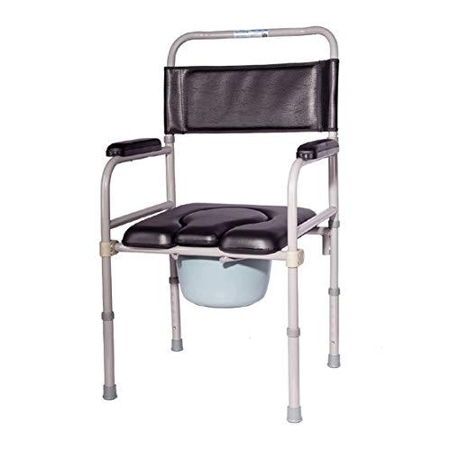 SXRL Höhenverstellbar Wc Stuhl Toilettenstuhl, Stuhl Abnehmbarer Eimer Für Ältere Menschen