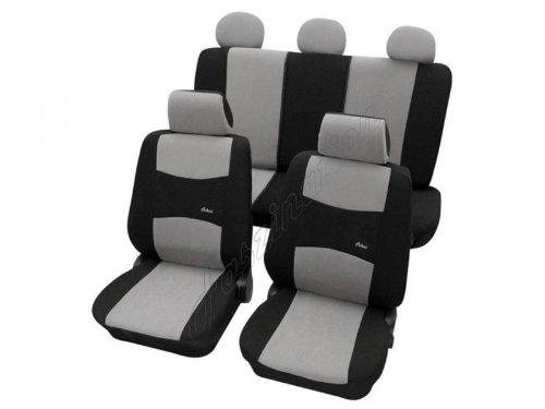 Coprisedili per auto, set completo, Fiat Panda 750, grigio nero