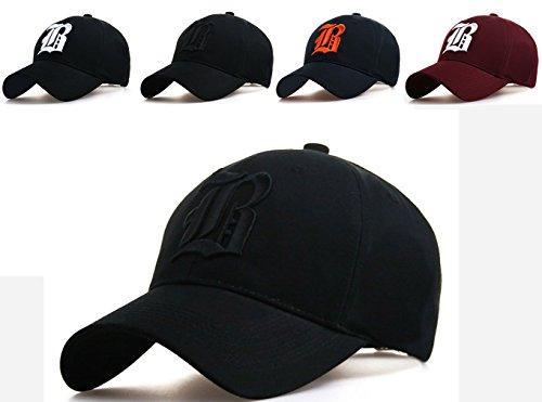 Unisexe Broderie Coton Baseball Cap Garçons Filles Snapback Hip Hop Flat Hat Bonnet Garçon Fille Enfants Chapeau Bonnet Unisexe black B blue