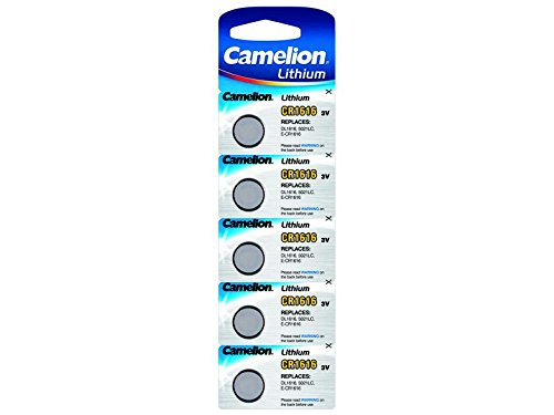 Eunicell CR1616 Lot de 5 piles lithium 3 V