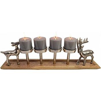 adventskranz massiv holz ge lt mit 4. Black Bedroom Furniture Sets. Home Design Ideas
