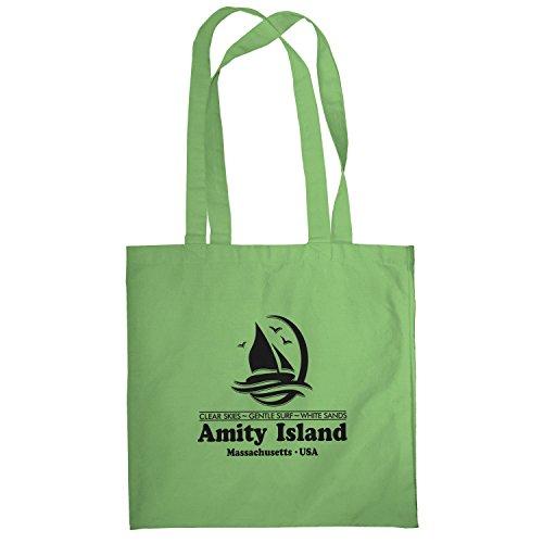Texlab–Amity Island–sacchetto di stoffa Verde chiaro