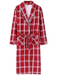 Xin Yu Yue Firm Vestidos para Hombres Batas Pijamas Ropa de Dormir Ligero Algodón Jersey Vestidos