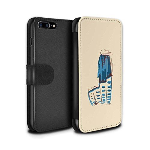Stuff4 Coque/Etui/Housse Cuir PU Case/Cover pour Apple iPhone 8 Plus / Pyramides Design / Monuments Collection Colisée / Rome