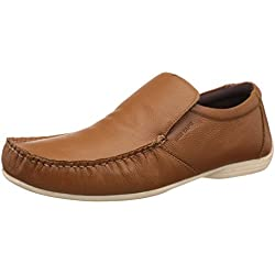 Red Tape Men's Tan Leather Loafers and Moccasins - 8 UK/India (42 EU)
