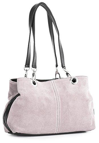 Big Handbag Shop - Borse A Spalla Donna baby Rosa Nero