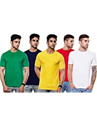 EnquotismPack Of 5 Plain Round Neck T-shirts