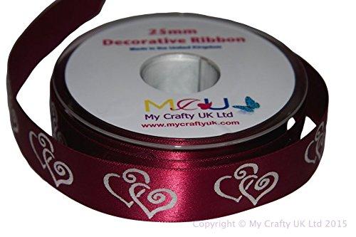 1m burgund Herz Ribbon-Hochzeit Jahrestag Verlobung Love