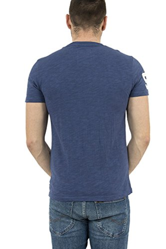 Superdry Premium Goods Duo Tee, T-Shirt Uomo Frontier Blue