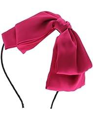 VANKER Bowknot grande arco de la venda del pelo accesorio del Cinta de cabeza Estilo dulce de la manera coreana -- melocotón