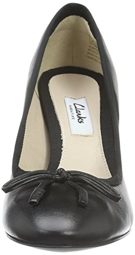 Clarks Idamarie Faye, Scarpe con Tacco Donna Nero (Black Leather)