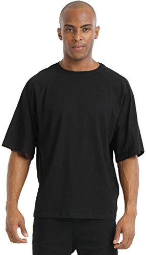 Pizoff Unisex Hip Hop Luxus Raglan T Shirts mit 3/4-Arm schwarz black camouflage tarnung muster army bundeswehr loose fit lässig Y1745-04-S (Vintage Schwarz Army Air)