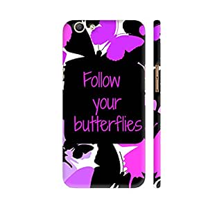 Colorpur Oppo F3 Cover - Follow Your Butterflies Printed Back Case