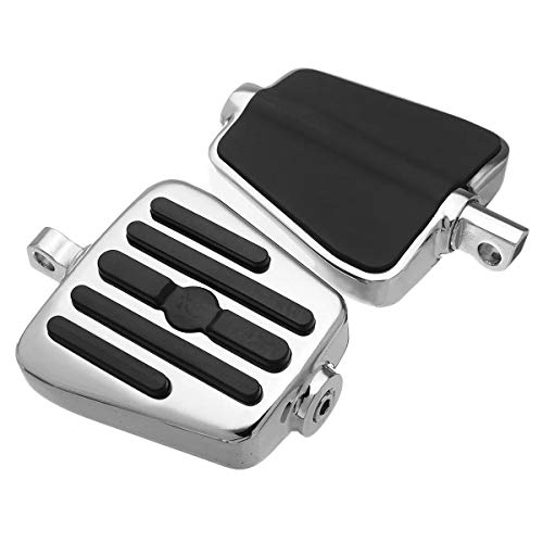Ophelia Chiodi Pedale Chrome Moto Lega, Moto Pedale Accessori di Montaggio Chrome + Moto Nera Accessori per Moto