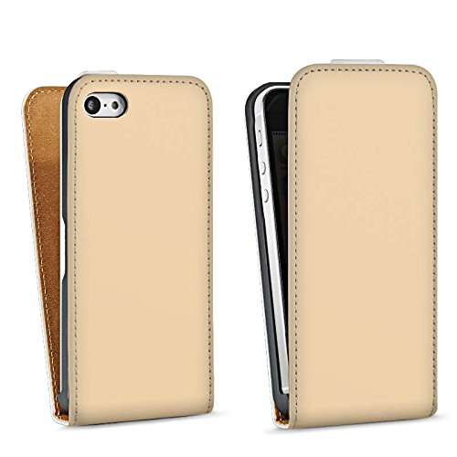 Apple iPhone 4 Housse Étui Silicone Coque Protection Kaki Marron Clair Sac Downflip blanc