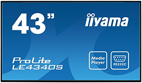 "iiyama ProLite LE4340S-B1 108cm (43"") Info-Display AMVA Panel Full-HD USB Mediaplayer (VGA, DVI, HDMI, 8ms, 12Std/7) Schwarz"