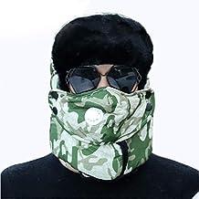 JJHR Sombreros y gorras Insignia Ejército Militar Ushanka Invierno  Bombardero Sombreros Hombres Piloto Trapper Trooper Sombrero 677bbba0520
