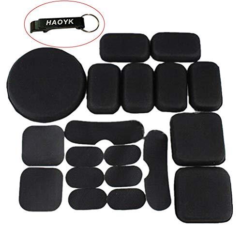 haoYK Erinnerung Schwarze Eva Foam Airsoft Taktische Helm die pad - Kissen-Schlüsselanhänger enthalten