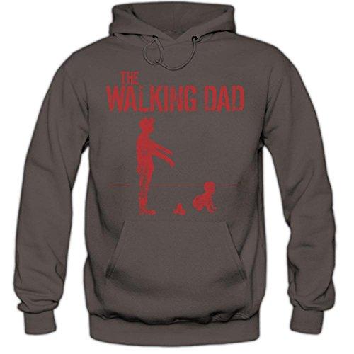 The Walking Dad #5 Hoody | Papà | Evoluzione | Film d'epoca | Culto | Detti | Fun | Uomo | Felpa Con Cappuccio , Farbe:Graphit (Light Graphit F421);Taglia:Small