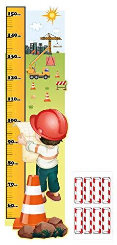 """I-love-Wandtattoo M-13-013 Kinderzimmer Messlatte """"Baustelle"""" zum kleben, beschriften und selbst gestalten Sticker Aufkleber Wandtattoo Wandaufkleber Wanddeko"""