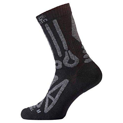 Jack Wolfskin TREKKING MERINO CLASSIC CUT Socken, black, 38-40