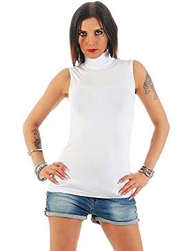 Mellice Shirt Maglietta da Donna Smanicato Dolcevita - 010