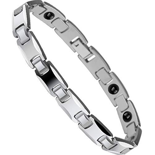 CJZSL Männer Anti-müdigkeit Armband, Wolfram Gold Armband Männer Frauen Magnet Paar Gesundheit Strahlenschutz Schmuck Sport IT Druck (größe : 20cm)
