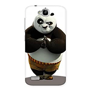 Radiant Punched Panda Back Case Cover for Honor Holly