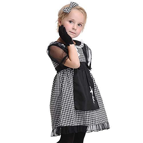 Cheerleader Machen Sie Zombie Eine Kostüm - WWJIE Halloween Cosplay Kostüm, Dienstmädchen Rollenspiel Kleid/Kindertanzabnutzung/Leistungskleidung-L