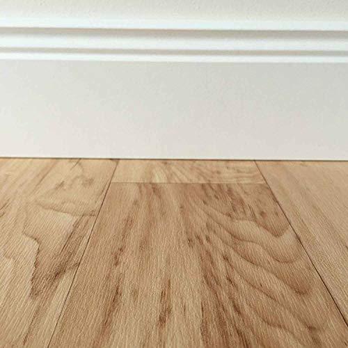 PVC-Bodenbelag in mediterraner Holzoptik Hell | Muster | Strukturierte Oberfläche | Vinylbode Fußbodenheizung geeignet |pflegeleichte Planken für den Wohnbereich | Made in Germany