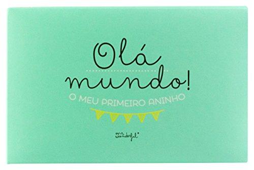 Mr. Wonderful Álbum para bebé, diseño ¡Hola mundo! Mi primer añito,...